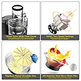 Elechomes Centrifugal Juicer Machine 900W Wide Mouth High Speed Juice Extractor 2 Speeds Juicer for Fruits and Vegetables, Easy To Clean