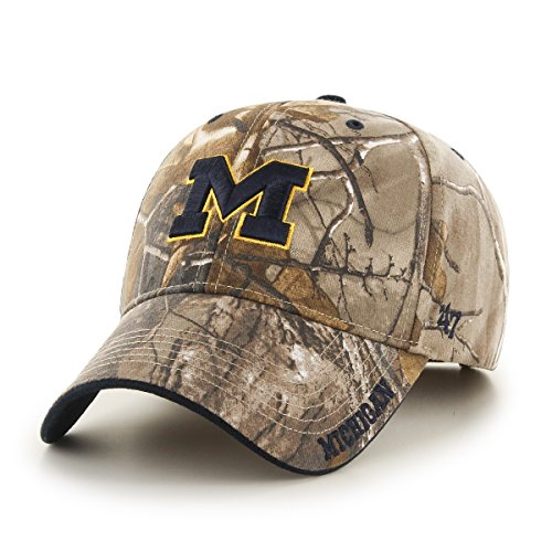 (NCAA Michigan Wolverines Frost MVP Adjustable Hat, One Size, Realtree Camouflage)