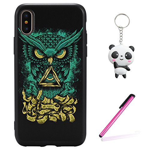 iPhone X Hülle 3D Kleiner Teufel Premium Handy Tasche Schutz Schale Für Apple iPhone X / iPhone 10 (2017) 5.8 Zoll + Zwei Geschenk