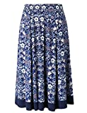Chicwe Women's Plus Size Calf Length Flared Elastic Waist Skirt - Casual and Work Skirt 4X