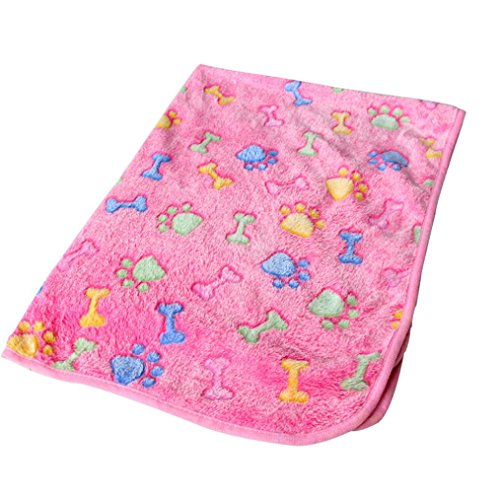 Pet Winter Cushion Mat , Pet Dog Cat Soft Warm Bed Paw Coral Fleece Bed Blanket Mat SUPPION (60*40cm, Pink)