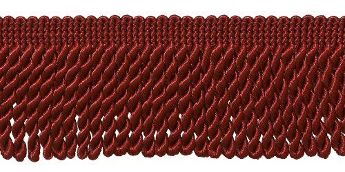10 Yard Value Pack of Red 2.5 Inch Bullion Fringe Trim, Styl