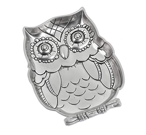 (The Bridge Collection Silver-Tone Metal Trinket Dish (Owl))
