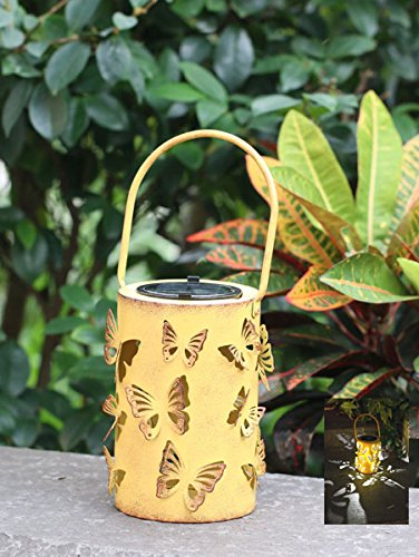 Reflection Effect Butterfly Solar Hanging Lanterns for Outdoors Garden Decoration And Home Patio Deck Lawn Yard Decor