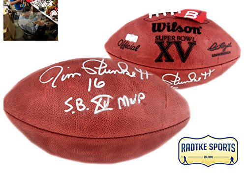 Oakland Raiders Nfl Hand Signed - Jim Plunkett Autographed/Signed Oakland Raiders Wilson Authentic Super Bowl XV NFL Football With