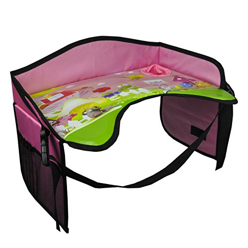 Find Discount Kids Snack & Play Car Seat Travel Lap Tray – for On-The-Go Families – with Cup Hol...