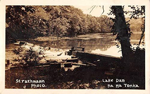 Ha Ha Tonka Missouri Lake Dam Real Photo Antique Postcard K7876329