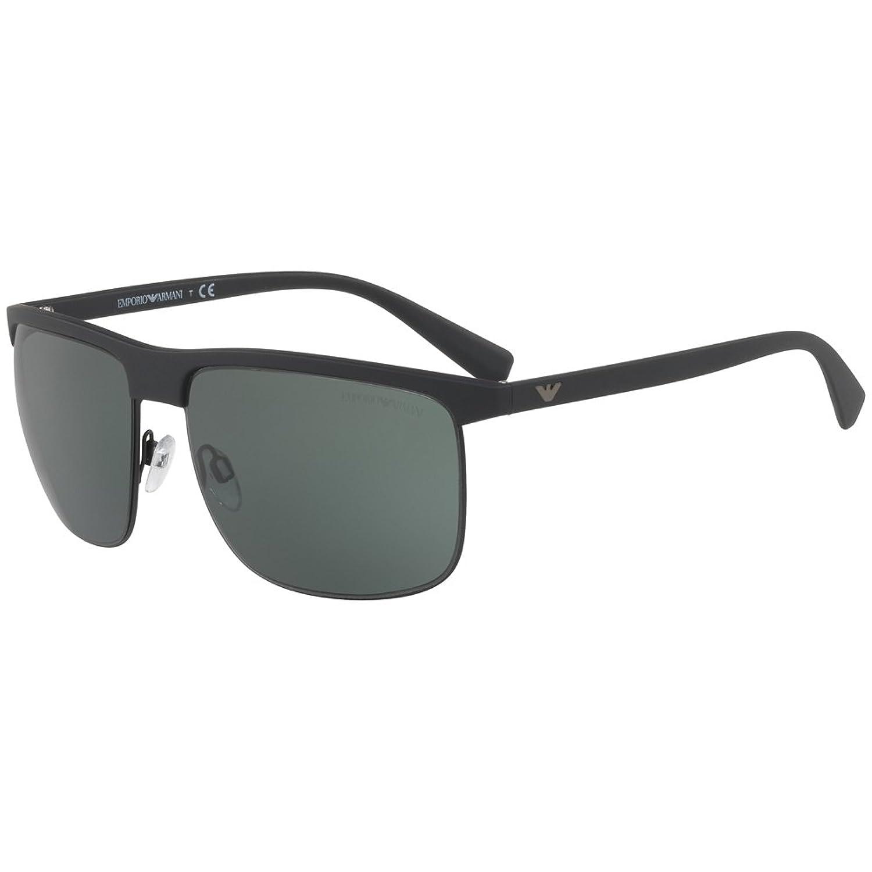 Emporio Armani Herren Sonnenbrille » EA4108«, schwarz, 504271 - schwarz/grün