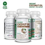 Organic Coconut Oil Capsules 2000mg – Cold Pressed & Non-GMO Coconut Oil Pills for Weight Loss, Extra Hair Growth and Healthy Skin – 120 Softgels – Source Unrefined Pure Coconut Oil Review