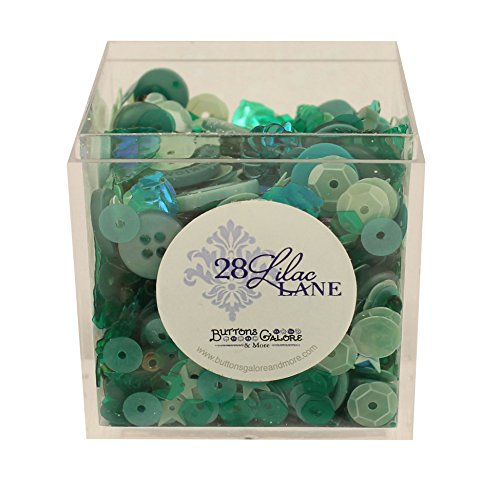 Greenery Shaker Mix 60 Grams Sequins Buttons Seed -