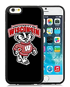 iPhone 6 4.7 Inch TPU Case ,Unique And Fashionable Designed Case With Ncaa Big Ten Conference Football Wisconsin Badgers 2 Black For iPhone 6 Cover Phone Case
