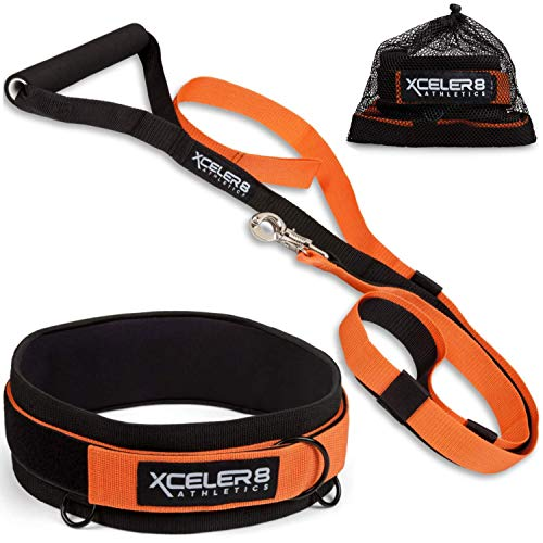 (X-PLOSIVE Speed Training Kit | Overload Running Resistance & Release | Harness & Resistance Band, Speed and Agility Equipment: Sprint and Football, Basketball, Soccer | Youth and Adult)