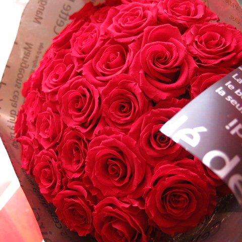 プリザーブドフラワー 花束 赤バラ 30本 花束 フラワーギフト 花束  大輪系 赤バラ ◆誕生日プレゼント記念日の贈り物におすすめのフラワーギフト プレゼント先へのお届け 配送日指定も可能です B00U7LMKBE