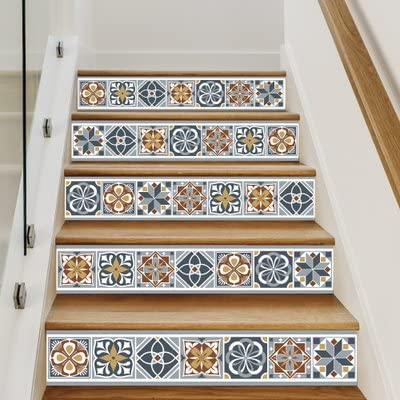 Sticker Escaliers Bluetiles Lot De 4 Stickers 1m X 17 Cm