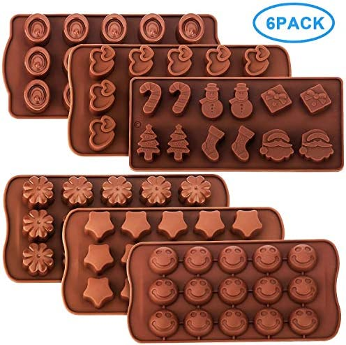 Chocolate Molds Silicone Pack Ideal Stars%EF%BC%8CFlowers%EF%BC%8CEmojis Christmas product image