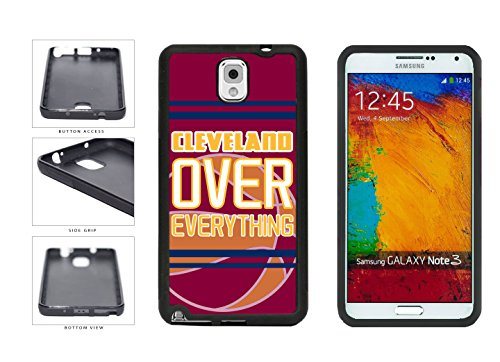 Galaxy Note 3 Rubber Case: BleuReign (TM) Cleveland Over Everything TPU RUBBER SILICONE Phone Case Back Cover for Samsung Galaxy Note III 3 N9002 includes BleuReign(TM) Cloth and Warranty Label