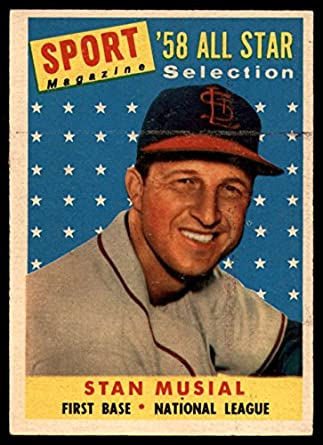 Amazoncom 1958 Topps 476 All Star Stan Musial St Louis