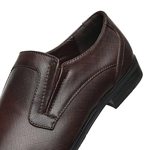 Faranzi Oxford Sko For Menn Cap Toe Oxford Menns Kjole Sko Zapatos De Hombre Snøre På Komfortable Klassiske Moderne Formelle Forretnings Sko Seve-en-brune
