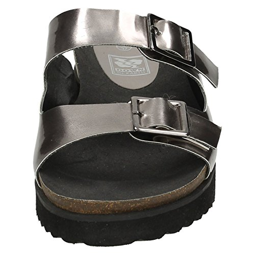To Pewter Sandals Thick Sole Ladies Down Silver Earth CqxcTv