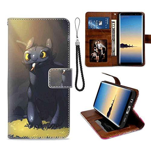 Wallet Case Compatible Galaxy S7 (2016) (5.1 Version) Halloween Movie Stitch Toothless -
