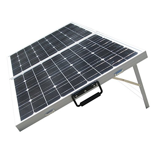 ECO-WORTHY 12 Volts 120 Watts Portable Folding Monocrystalline PV Solar Panel Foldable Solar Suitcase by ECO-WORTHY