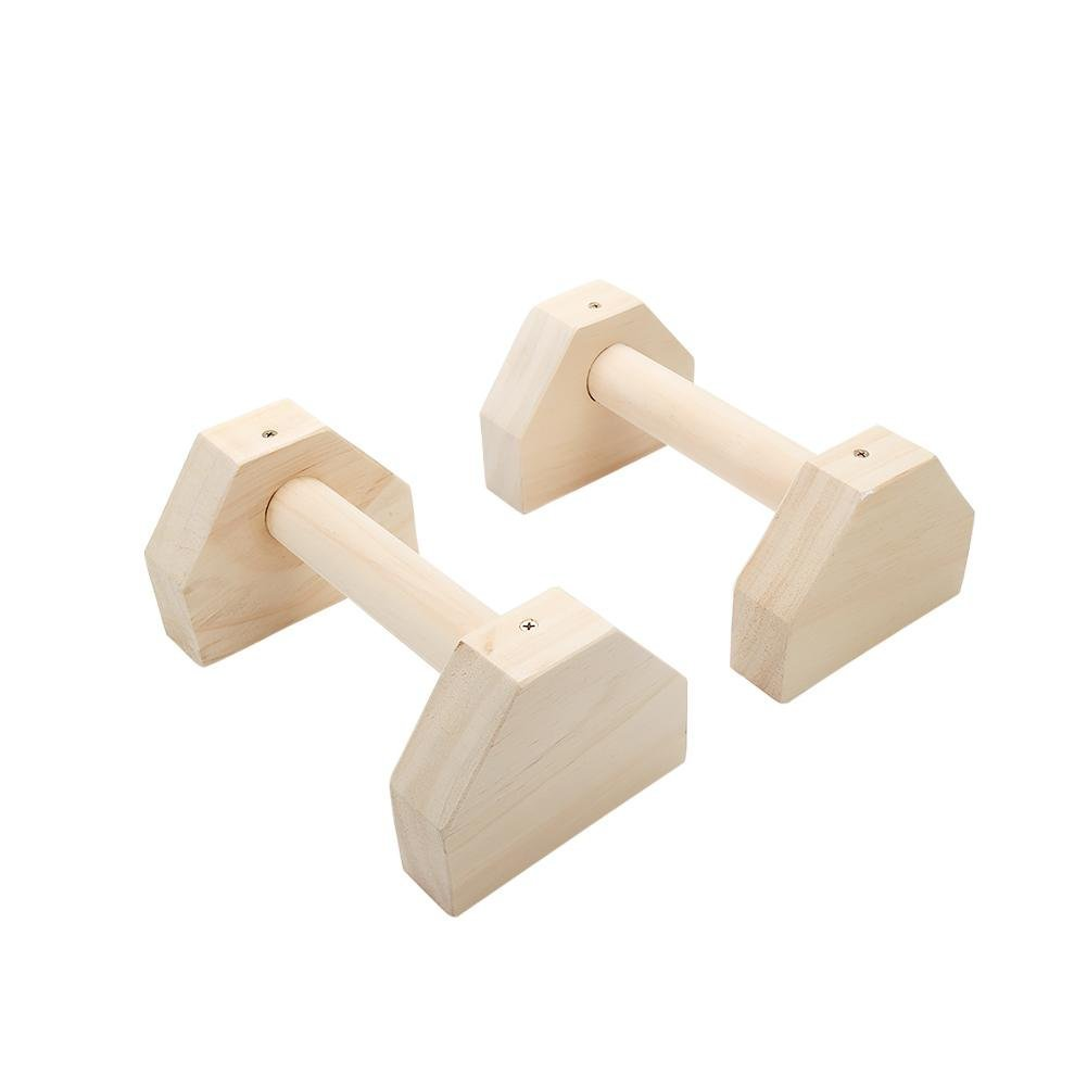 LeKing Push-ups Soporte de Estilo Ruso, Soporte de paralelismo de Madera de una Barra, Soporte de Yoga invertido (en Caja, Tipo de Pino)