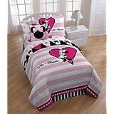 Disney- Minnie Mouse Reversible Full Mini Comforter Set W/Sham