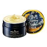 Sheet Mask Morning or Night [VELIEVE] Starry Night Pack 100ml - Night Facial Treatment Gel Mask, Anti-Oxidant Moisturizing Skin Care