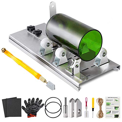 Glass Bottle Cutter Kit, Bottle Cutter DIY Machine for Cutting Square Round Oval Bottles, with Pencil Glass Cutter Tool…