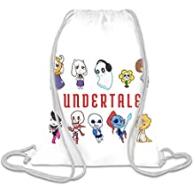 Undertale Custom Printed Drawstring Sack   100% Soft Polyester  5 Liter Capacity  Adjustable String Closure  The Stylish Bag For Every Day Use  Custom Bags By Bang Bangin
