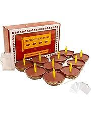 Diya Diwali String Lights decoration - LED Deepawali Festival Tea Lights Diwali Gift Diwali Decor Battery Operated Dias Indian Pooja Room Light Home Office Mandir Puja Gifts Hindu Temple Wedding Party