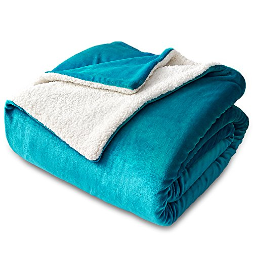 Sherpa Fleece Quilt - Bedsure Sherpa Fleece Blanket Twin Size Teal Plush Blanket Fuzzy Soft Blanket Microfiber