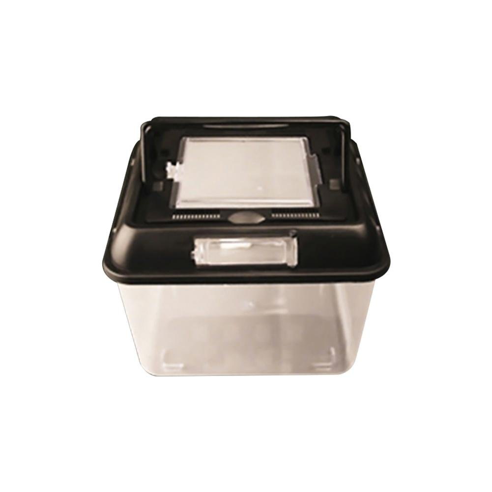 Oshide Square high Transparent Reptile Terrarium Spider Frog Box Turtle Tank Cylinder cage Finishing Small Fish Tank