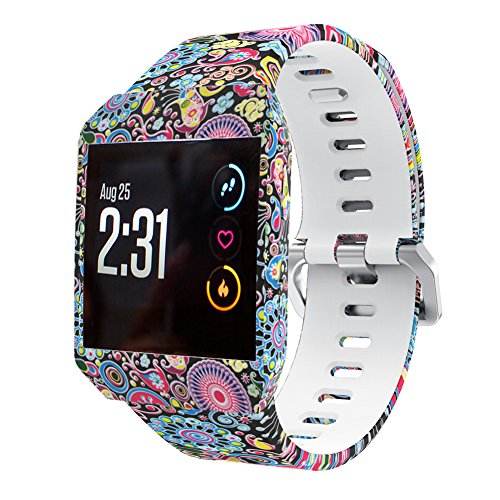 XiangMi for Fitbit Ionic Bands,Soft Silicone Sport Breathable Replacement Accessories Bracelet Strap Band with Ventilation Holes for Fitbit Ionic Smart Fitness Watch Women Men