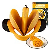 SAVORLIVING Mango Slicer Stainless Steel Blades with Non Slip Handles Extra Large Mango
