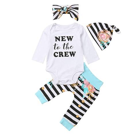 LILICAT❋ Bebé con Rayas, Estampado de Letras, Camisa de ...