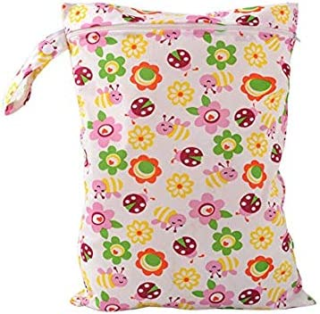 Wet Dry Bag,Demarkt Capacity Waterproof Cloth Diaper Nappy Bag Hanging Zippered Pockets for Baby Diaper Travel Beach,Daycare