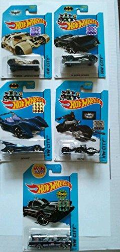 2014 Hot Wheels Factory Sealed Set Exclusive - Batman Batmobile Complete Set of 5!