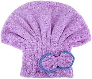 Hair-Drying Cap-Microfiber, Purple
