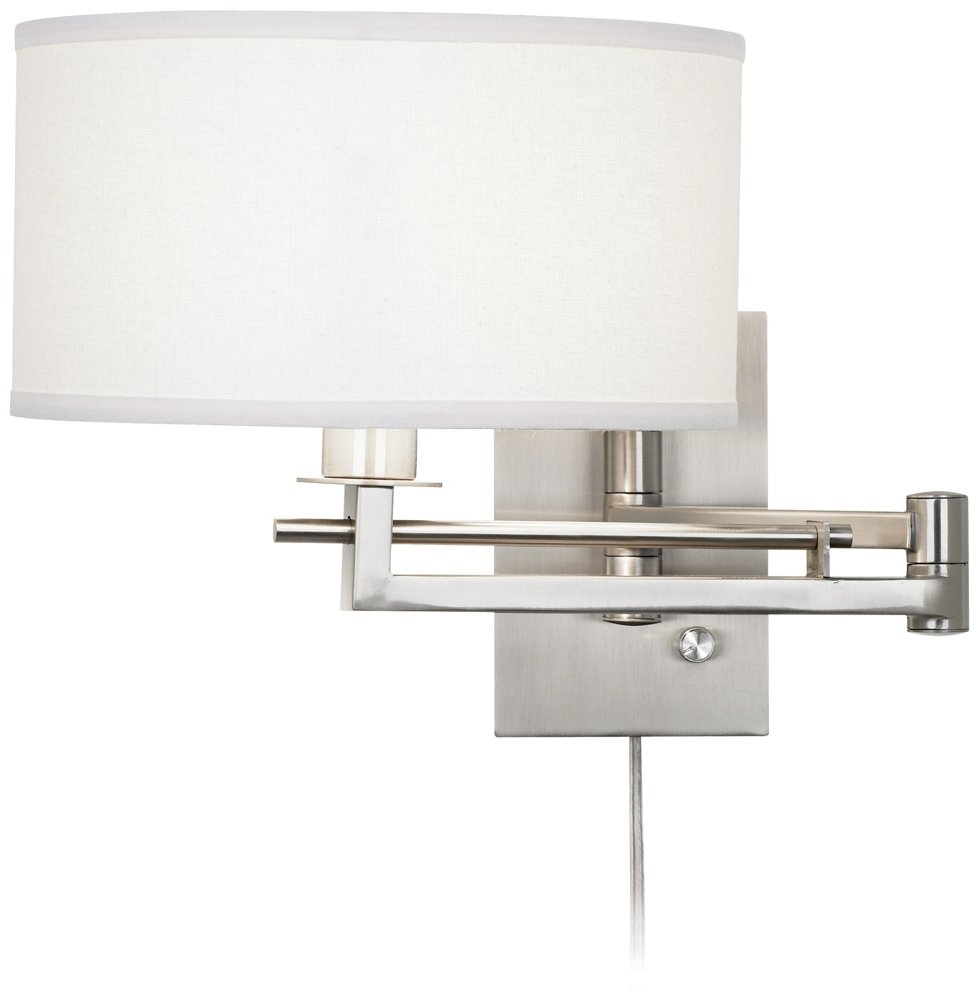 Possini Euro Aluno Plug-In Style Swing Arm Wall Light - Wall Sconces -  Amazon.com - Possini Euro Aluno Plug-In Style Swing Arm Wall Light - Wall