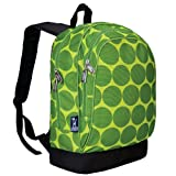 Wildkin 15 Inch Backpack, Extra Durable Backpack with Padded Straps and Interior Moisture-Resistant Lining, Perfect for School or Travel – Big Dots Green