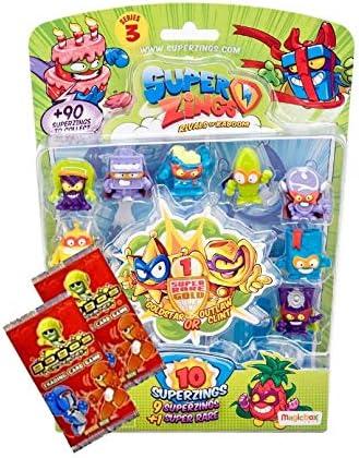 Superzings Serie 3: 10 blíster de figuras - Incluye Super Rare Plus 2 tarjetas de entrenamiento GoGo ~ RIVALS OF KABOOM: Amazon.es: Juguetes y juegos