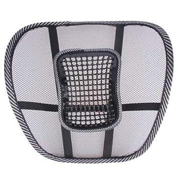 Amazon.com: Cojín de asiento de malla lumbar respaldo ...