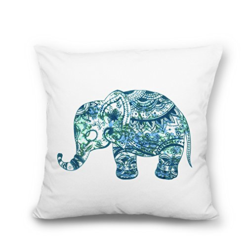 wendana Cute Pillows Elephant Pillow Case Canvas Throw Pillow Covers 18 x 18 for Teen Girls