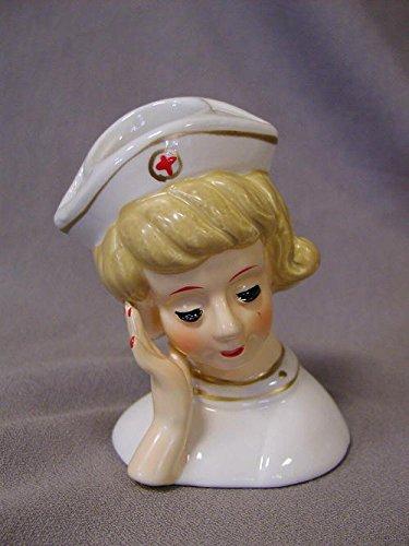 Pixie Lady Head Vase Nurse (Miniature)