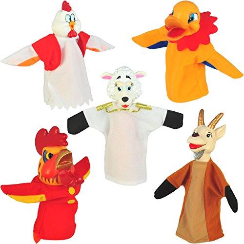Set of 5 Animal Hand Puppets 10