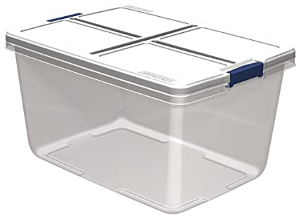 Hefty Storage Container (Set of 6) 66 quart Clear  sc 1 st  Amazon.com & Amazon.com: Hefty Storage Container (Set of 6) 66 quart Clear ...