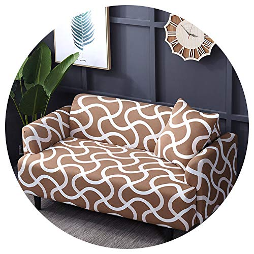 Sofa Cover Elastic Slipcovers Sofa Universal Sofa Cover Cotton Stretch Sectional Couch Corner Cover Sofa Cover for Living Room Pets 1Pc,Color 16,3-Seater 190-230Cm
