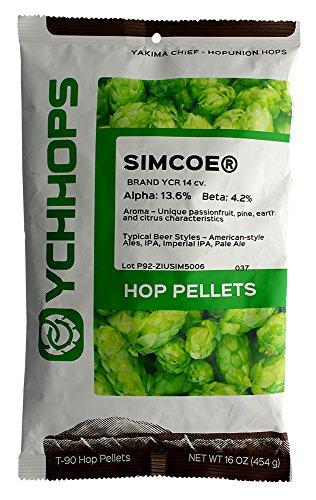 Home Brew Ohio HOZQ8-1179 Simcoe Hop Pellets-1 Pound, Green