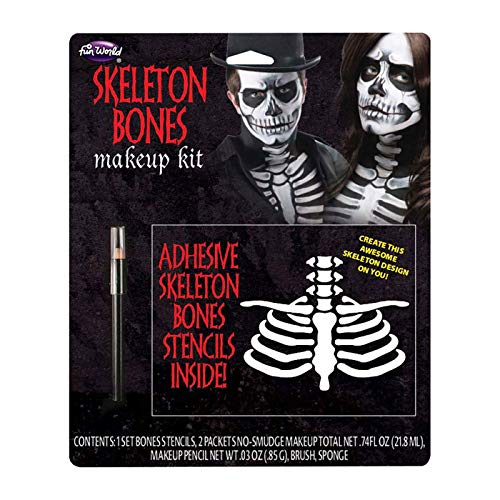 Fun World Unisex-Adult's Bones Make Up Kit, Multi,